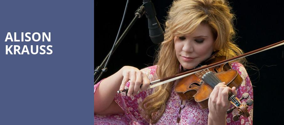 Alison Krauss, Morris Performing Arts Center, South Bend